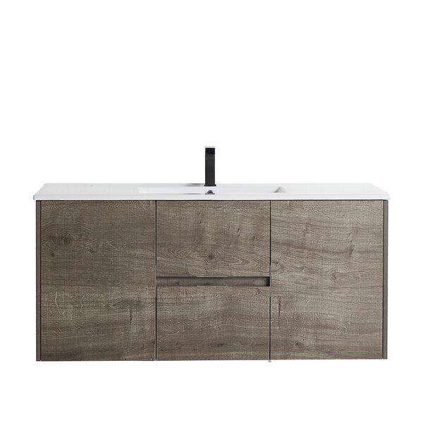 Hittle 48 Wall-Mounted Single Bathroom Vanity Set
