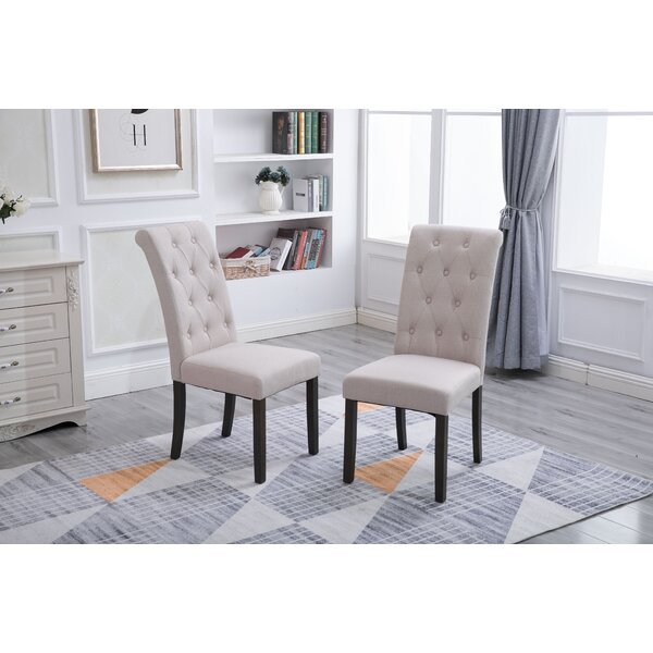 Free S&H Serpa Upholstered Parsons Chair (Set Of 2)