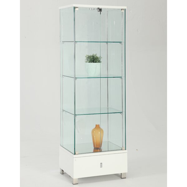 Khadim Lighted Curio Cabinet By Orren Ellis Design