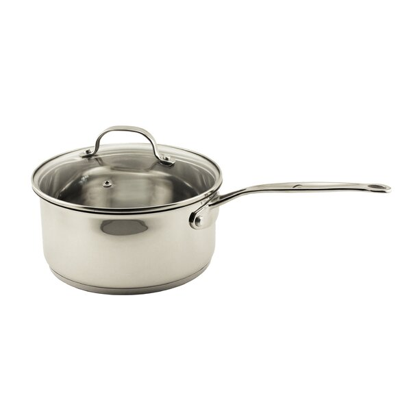 EarthChef Premium Stainless Steel Sauce Pan with Lid by BergHOFF International