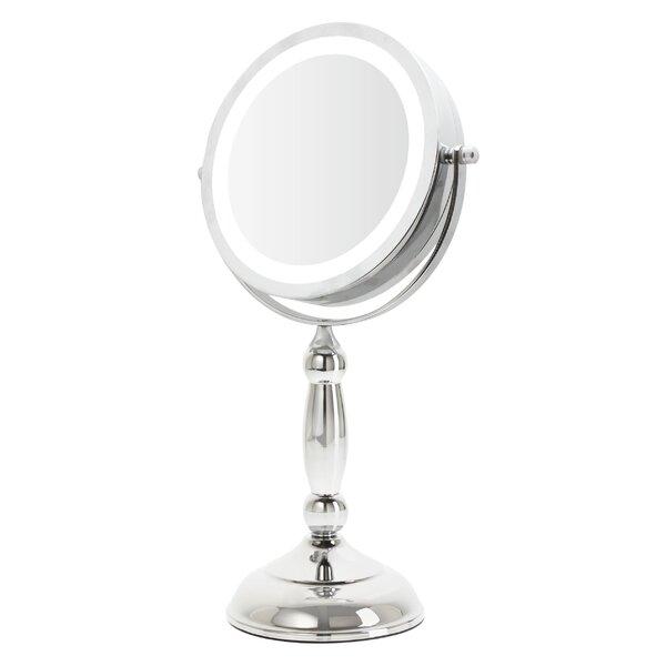 Escoto LED Lit Sculpted Makeup/Shaving Mirror by Rebrilliant