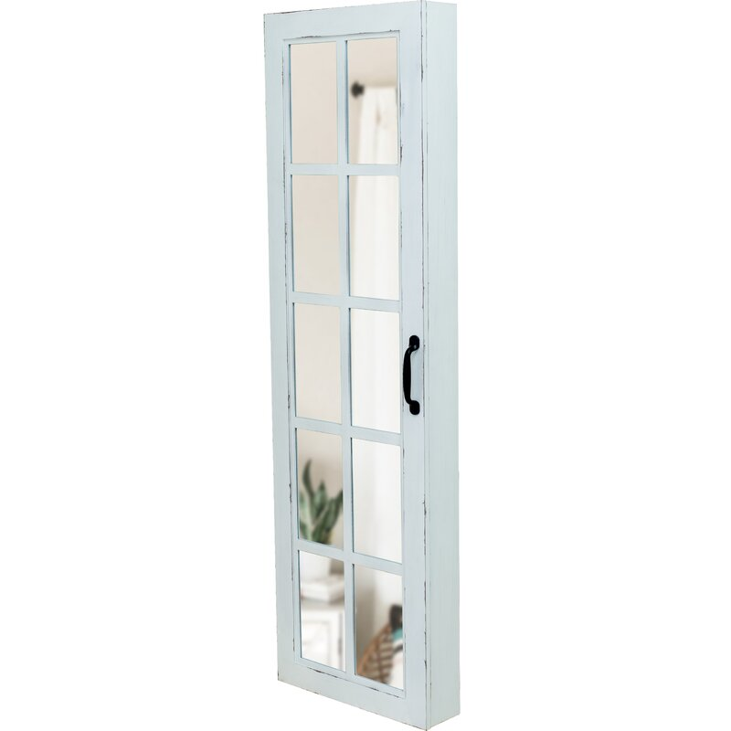 Kurtis Window Over The Door Jewelry Armoire With Mirror