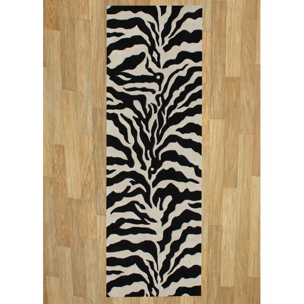 Alliyah Safari Black Area Rug by James Bond