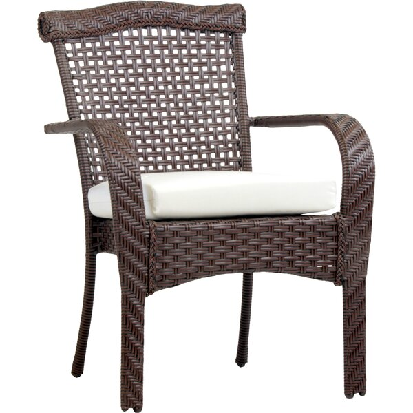 South Perth Stacking Patio Dining Chair with Cushion by Bay Isle Home