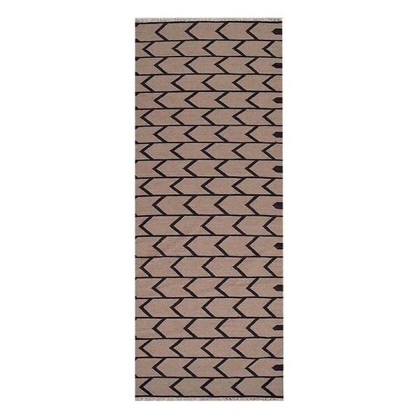 Alisia Hand-Woven Cream/Charcoal Area Rug by Williston Forge