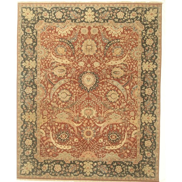 One-of-a-Kind Cordele Hand-Knotted Wool Red Area Rug by Isabelline
