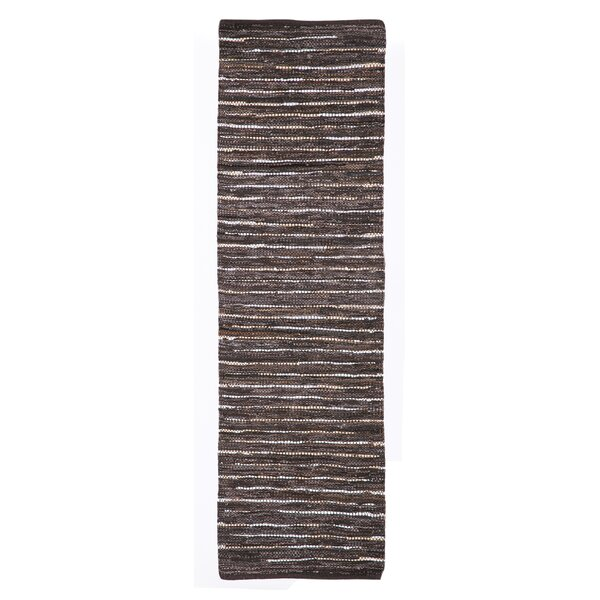 Billancourt Handwoven Flatweave Brown Area Rug by Loon Peak
