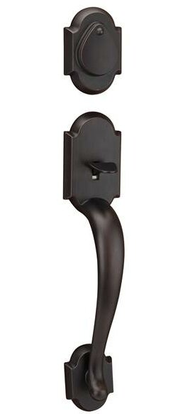 Austin Signature Series Dummy Handleset, Exterior Handle Only by Kwikset