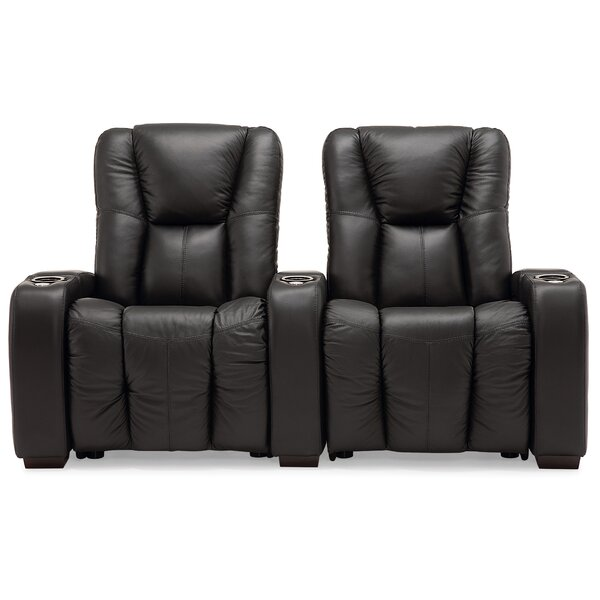 Review Neville Manual Reclining Home Theater Loveseat (Row Of 2)