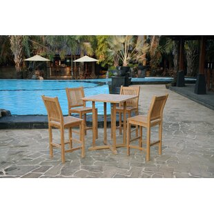 Piper 5 Piece Teak Dining Set By Rosecliff Heights