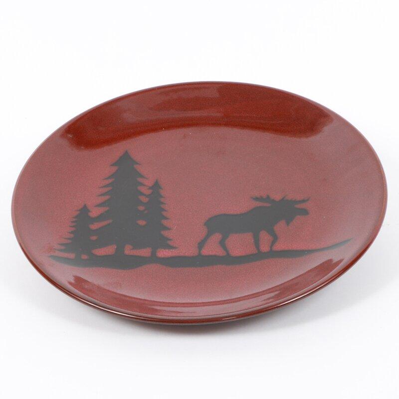 Comet 11\  Moose Stoneware Dinner Plate  sc 1 st  Wayfair & Loon Peak Comet 11\
