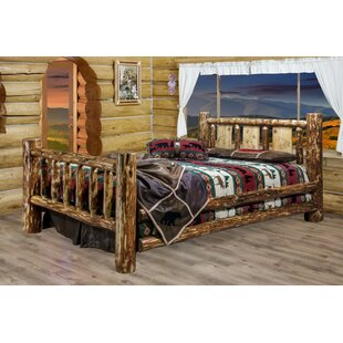 Tustin Panel Bed with Laser Engraved Wolf Design By Loon Peak