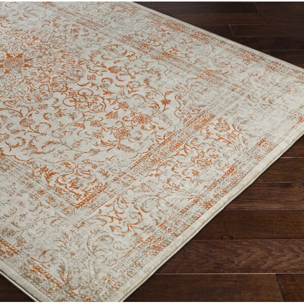 Anil Orange / Taupe Area Rug by Bungalow Rose