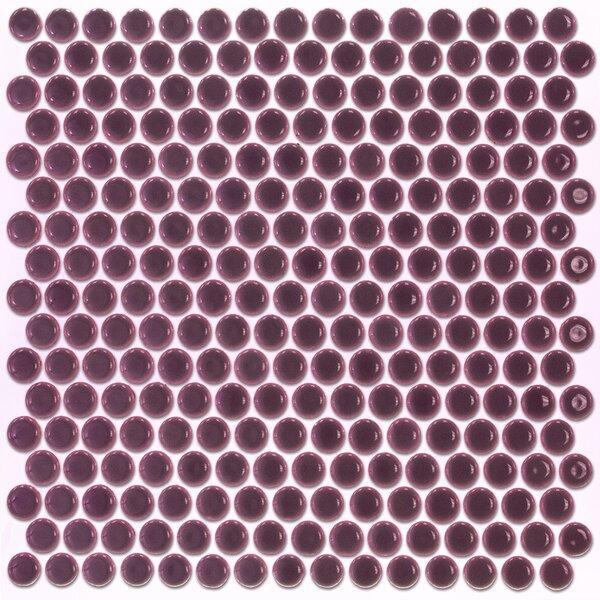 Bliss 0.75 x 0.75 Ceramic Mosaic Tile in Plum by Splashback Tile
