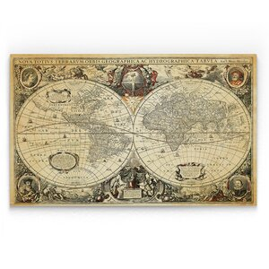 'Parchment Treasue Map' Graphic Art Print on Wrapped Canvas by Wexford Home