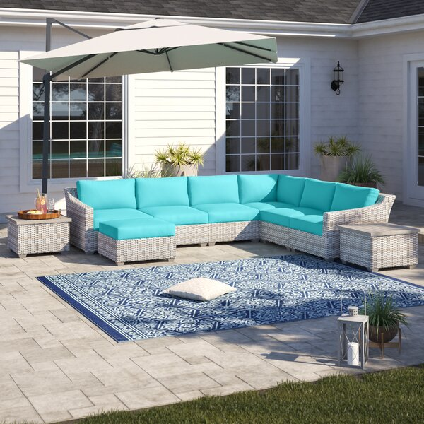 Falmouth 9 Piece Sectional Seating Group with Cushions by Sol 72 Outdoor
