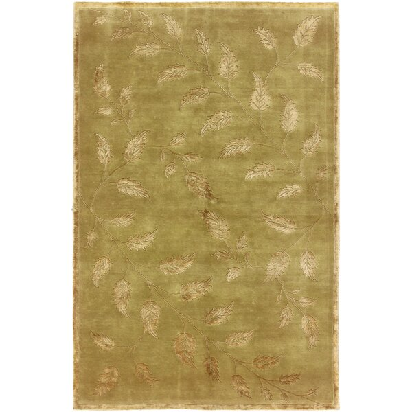 One-of-a-Kind Hand-Woven Gold Area Rug by Canora Grey