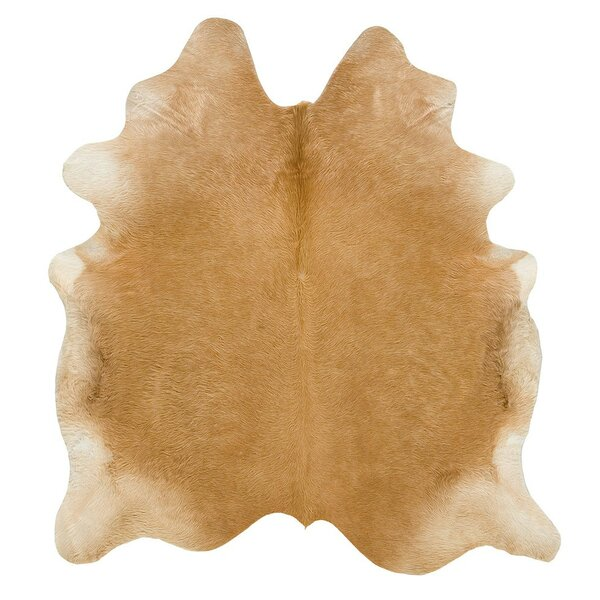 Long Hair Cowhide Beige Area Rug by Saddlemans