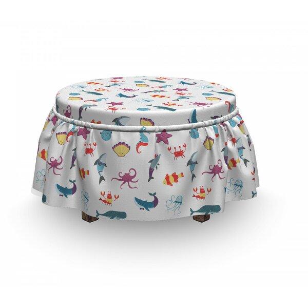 Low Price Box Cushion Ottoman Slipcover