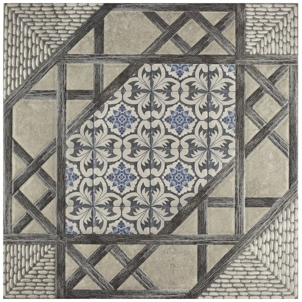 Oliba 17.63 x 17.63 Ceramic Field Tile in Gray/Blue by EliteTile