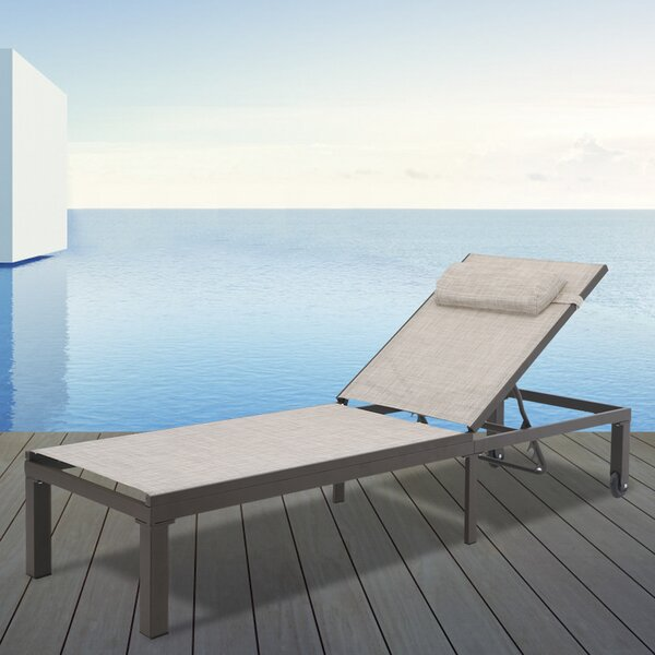 Kumari Adjustable Reclining Chaise Lounge by Ebern Designs Ebern Designs