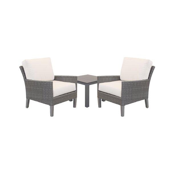 Macklin Deep Seating Group With Sunbrella Cushions By Ebern Designs by Ebern Designs #1