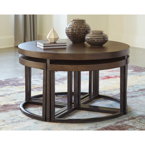 Lizeth Coffee Table With 4 Nested Stools By Williston Forge