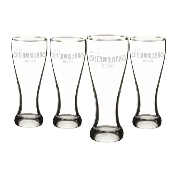 St. Patrick's Day Shenanigans 20 oz. Pilsner Glass (Set of 4) by Cathys Concepts