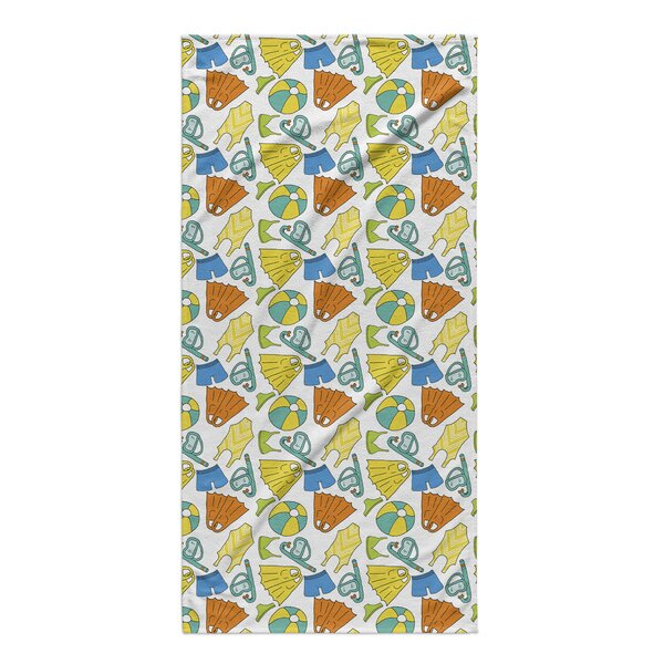 Pool Stuff Beach Towel by Rosecliff Heights