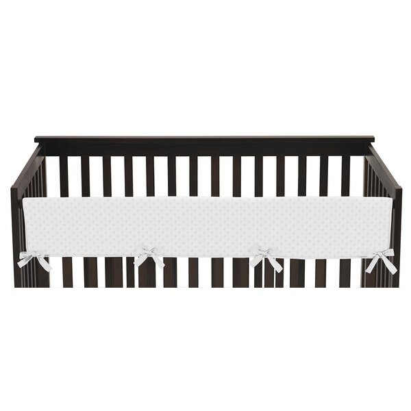 Minky Dot Long Crib Rail Guard Cover by Sweet Jojo Designs