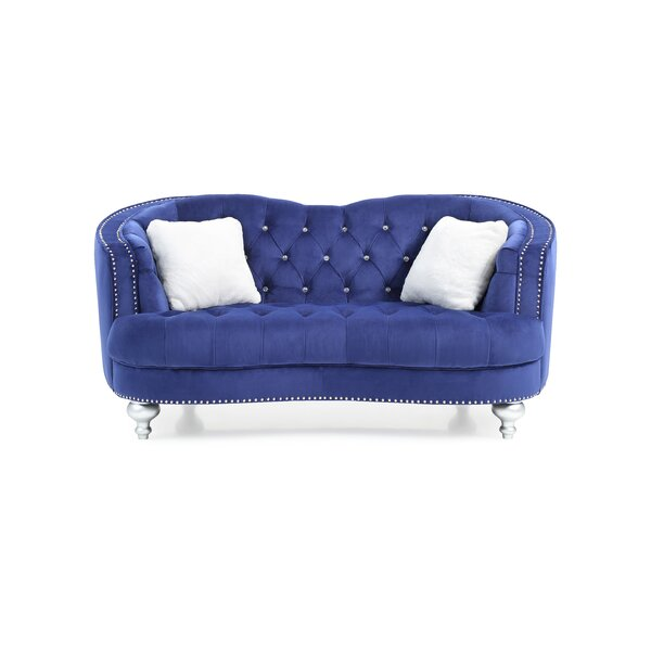 Shorehamby Chesterfield Loveseat by Everly Quinn