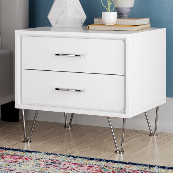 Wolfe 2 Drawer Nightstand by Mistana