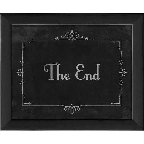 Silent Movie the End Framed Textual Art by The Art
