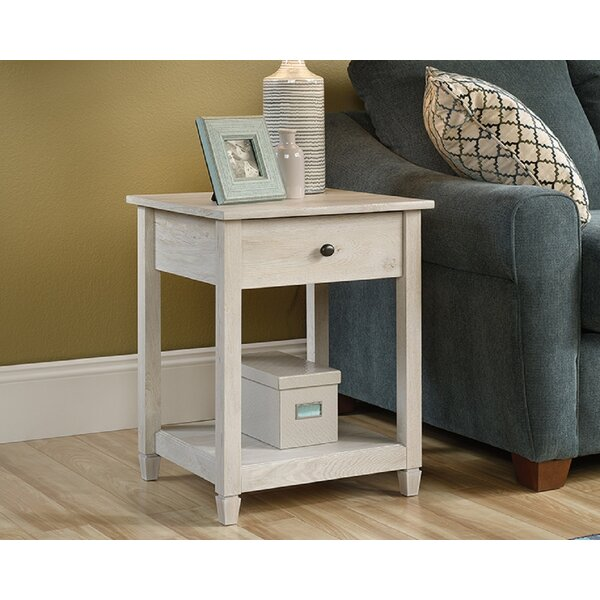 Velasco End Table With Storage By Rosalind Wheeler
