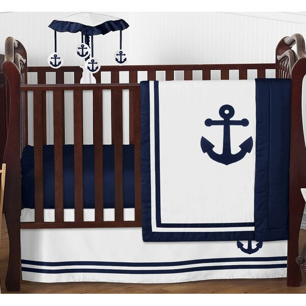 Anchors Away 4 Piece Crib Bedding Set by Sweet Jojo Designs