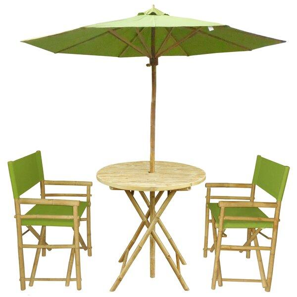 Petra 3 Piece Bistro Set with Umbrella by Bay Isle Home