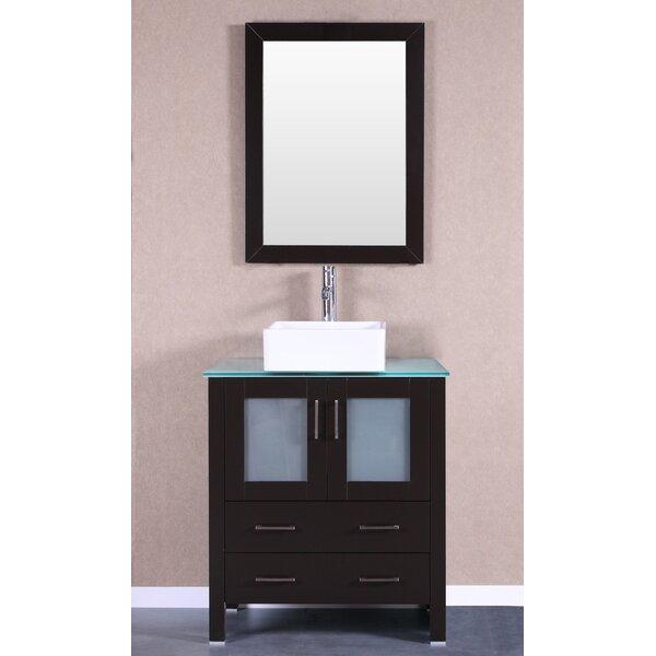 Modena 30 Single Bathroom Vanity Set with Mirror by Bosconi