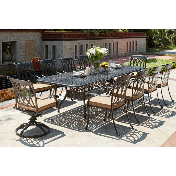 Melchior 11 Piece Dining Set with Cushions by Astoria Grand