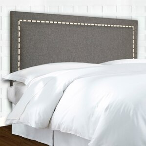 Wellford Nailhead Trim Upholstered Panel Headboard by Fashion Bed Group
