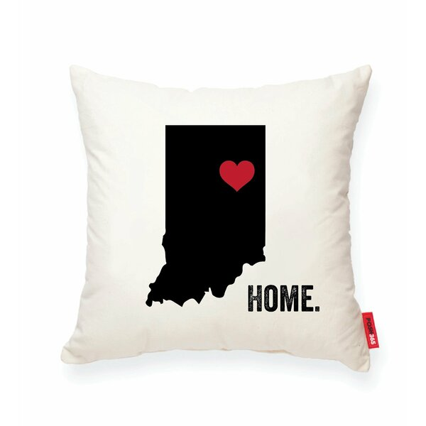 Pettry Indiana Cotton Throw Pillow by Wrought Studio