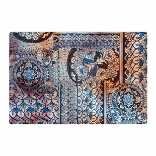 Victoria Krupp Italian Tiles Digital Blue Area Rug