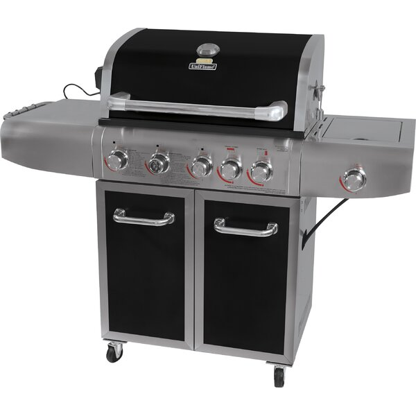 Barbecue 6-Burner Propane Gas Grill with Cabinet by Uniflame Corporation