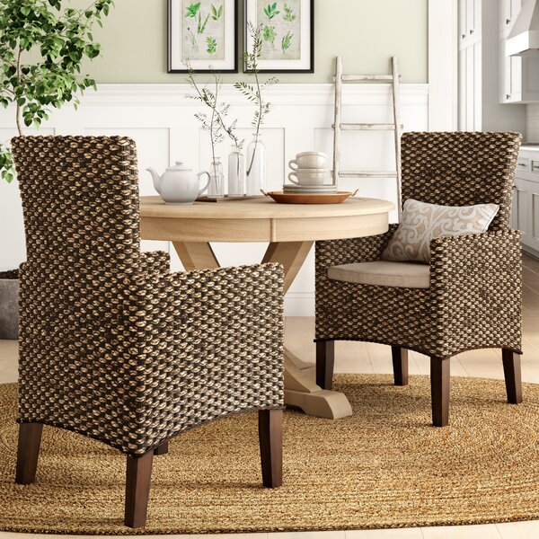 Heliodoro Woven Seagrass Arm Chairs (Set of 2) by Birch Lane™ Heritage