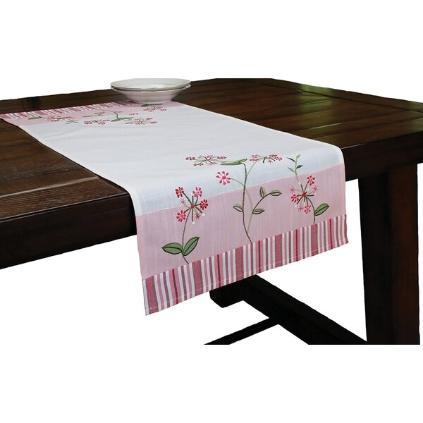 Whimsy Embroidered Pattern Table Runner by Xia Home Fashions