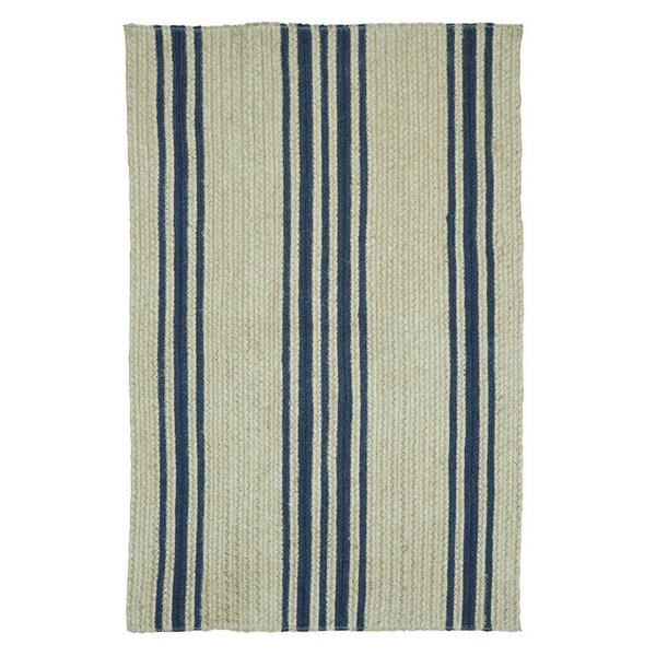 Mason Farmhouse Beige/Blue Area Rug by Homespice Decor
