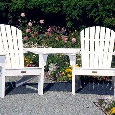 Adirondack Tete-a-Tete Attachment Bistro Table by Seaside Casual