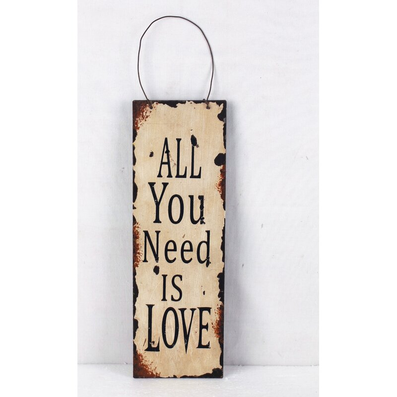 AttractionDesignHome \'All You Need is Love\' Metal Wall Décor ...