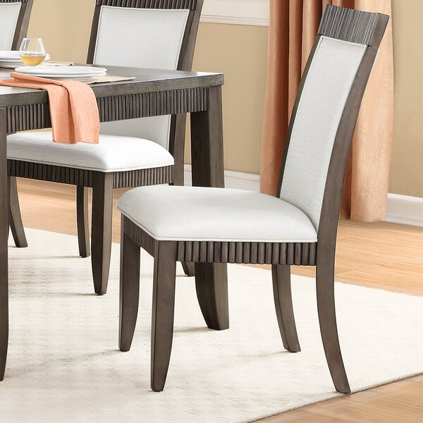 Cabery Upholstered Dining Chair (Set of 2) by Alcott Hill