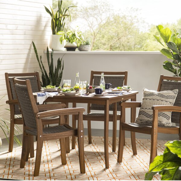 Rhett 5 Piece Dining Set by Langley Street