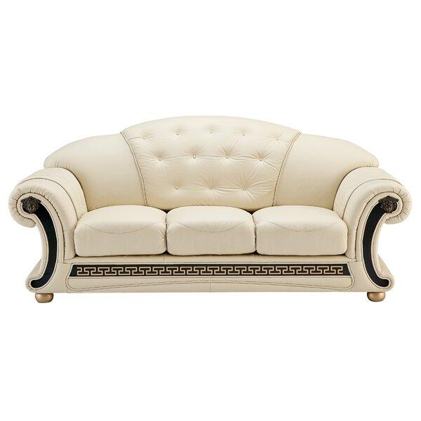 Francene Leather Sofa by House of Hampton